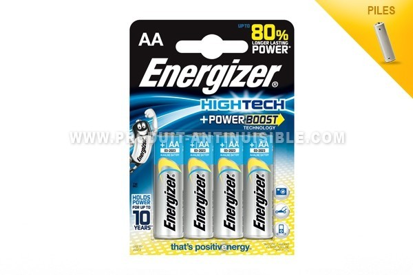 Energizer Piles Hightech Lot de 4 piles LR6-AA-1.5V