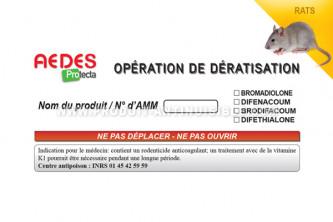 Anti rats Etiquettes réglementaires pour marquage de postes en lot de 100