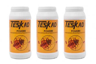 Anti puces TESKADUST poudre insecticide en lot de 2 + 1 offert