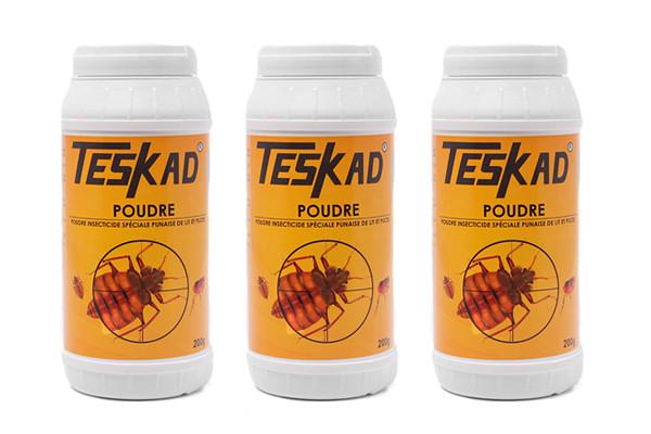 Anti punaises de lit TESKADUST poudre insecticide en lot de 2 + 1 offert