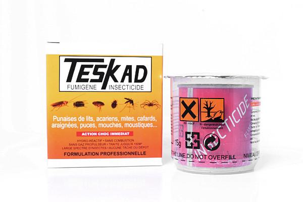 Anti punaises de lit fumigène Teskad en lot de 4