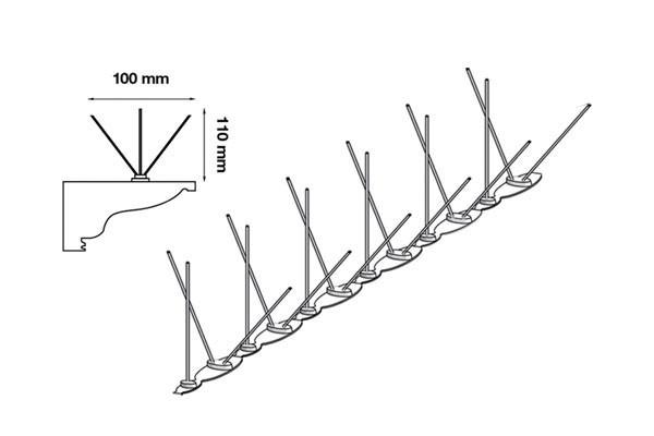 Anti Pigeon Ecopic Ultra 2 - 5 mètres avec colle