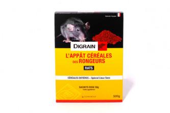 Anti Rats Digrain Appât Céréales 150g