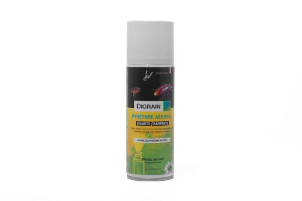 Anti acariens Aérosol Insecticide Digrain Pyrèthre 200ml