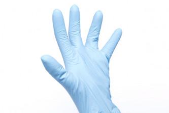 Boîte de 200 gants de protection à usage unique.