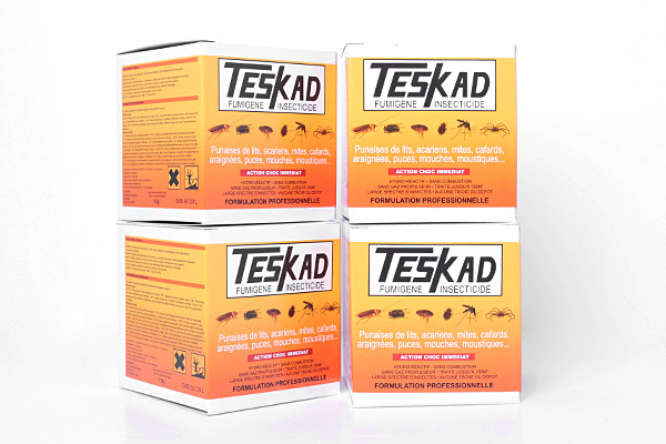 Anti moustiques fumigène insecticide Teskad en lot de 4