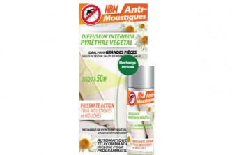 Anti-moustique diffuseur intérieur au pyrèthre végétal