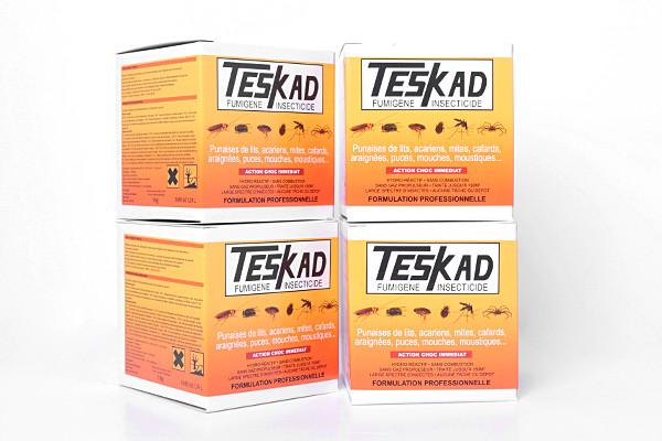 Anti mites et teignes fumigène Teskad en lot de 4