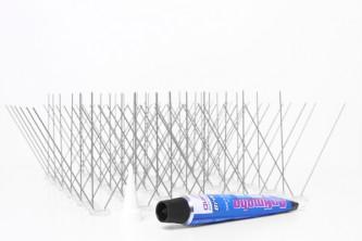 Anti Pigeon Pics - Kit de 2 mètres avec colle
