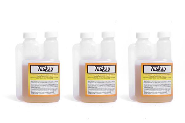 Anti acariens Teskad Insecticide concentré 100ml en lot de 3 Anti insectes rampants anti volants pour 100m²