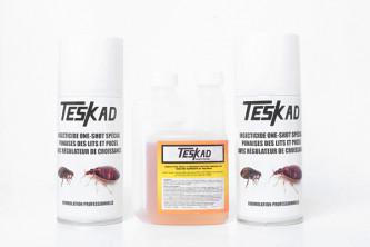 Pack Anti Puces et Punaises pour 50m² avec insecticide concentré et deux aérosols