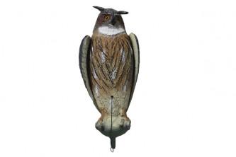 Anti oiseaux Hibou synthétique 55cm