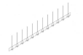 Pics anti pigeons - anti moineaux Protection des volets et panneaux solaires EV12- 1 mètre