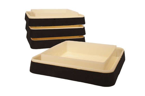 Intercepteurs noirs anti punaises de lit pour la protection des lits et des meubles en lot de 4