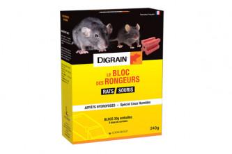 Anti Rats appats Digrain Difebloc 240g