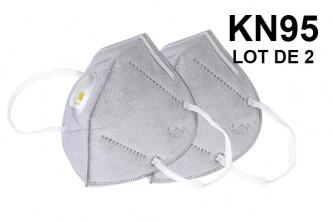Masque KN95 / FFP2 avec filtre lot de 2