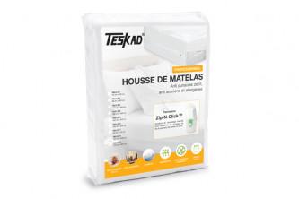 Housse de matelas professionnelle Teskad® anti punaises de lit et acariens