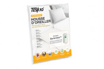 Housse d'oreiller professionnelle Teskad® anti punaises de lit et acariens