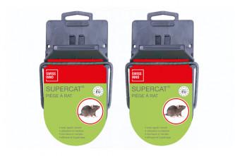 Anti Rats Tapette avec Appât Permanent en Lot de 2