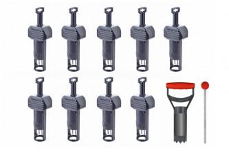 Anti campagnol piège SuperCat lot de 9 + Set accessoires offert