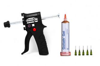 Gel anti cafards et Blattes Goliath 400m2. Puissant et rapide + pistolet applicateur.